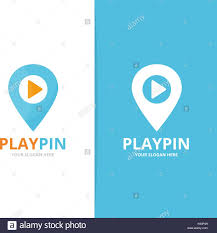 Casino Locator Map Vector Of Map Pointer And Button Play Logo Combination Gps
