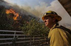 Wildfire La Area by 2 Big Wildfires In La Area Foothills Burn Toward Each Other Wstm