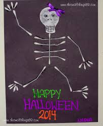 q tip halloween skeleton craft diy the small things