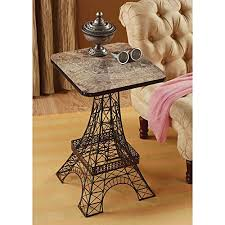 eiffel tower table cafe style eiffel tower shaped side table
