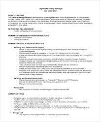 digital marketing manager resume online marketing manager resume