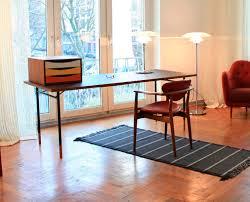 Schreibtisch Walnuss Nussbaum Schreibtisch Aus Teakholz Stahl Modern Nyhavn