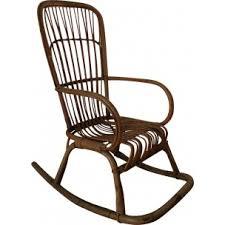 Bamboo Rocking Chair Vintage White Scandinavian Rocking Chair 1960s Design Market