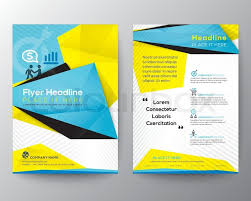 flyer graphic design layout abstract triangle geometric brochure flyer design layout vector