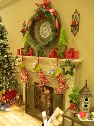 Fireplace Holiday Decorating Ideas Living Room Christmas And Thanksgiving Fireplace Decoration Idea