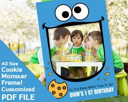 cookie monster baby shower cookie monster birthday party photobooth frame cookie monster