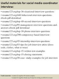 Social Media Job Resume by Top 8 Social Media Coordinator Resume Samples