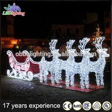 decoration reindeer with sleigh light 3d motif led