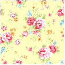 Fabric Shabby Chic by Shabby Chic Floral Fabric Yellow Floral Fabric Lecien Yellow Rose