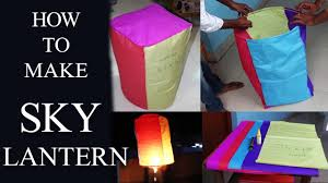 How To Make Paper Air Balloon Lantern - how to make sky lantern at home with papers easily
