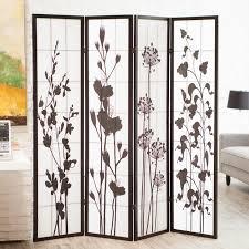 brooks canvas 4 panel room divider natural hayneedle