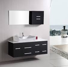 Wall Mounted Bathroom Vanity by Design Element Springfield Single 53 Inch Modern Wall Mount