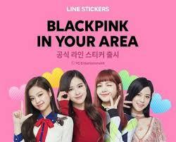 blackpink download album blackpink x line official blackpink line stickers blink 블링크