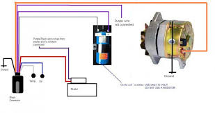 how to replace the original prestolite alternator by a new 1 wire