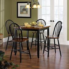 Black Wood Dining Room Table by Sauder Edge Water Estate Black Wood Windsor Dining Chair Set Of 2
