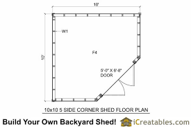 shed floor plan 10x10 5 sided corner shed plans