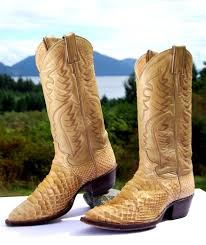 justin s boots sale for sale vintage justin beige python leather cowboy boots mens 6 5