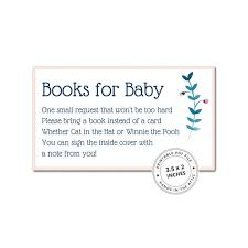 bring a book instead of a card baby shower baby shower inserts archives printable stationery weddings