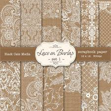 Burlap And Lace Wedding Invitations Burlap And Lace Digital Paper Burlap Wedding Invitation Paper