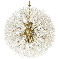 crystal dandelion chandelier at 1stdibs