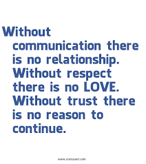 without communication there is no relationship without respect