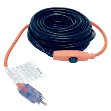 Wrap On Roof And Gutter Cable by M D 64444 30 U0027 Pipe Heating Cable With Thermostat Amazon Com