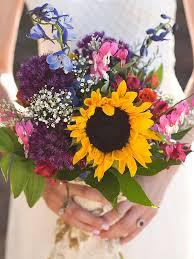 sunflower wedding bouquet charming sunflower wedding bouquets