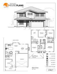 2 Car Garage Sq Ft 2106 T Spokane House Plans