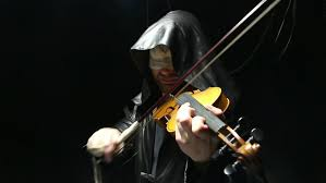 Black Blind Musician Blind Musician Playing On A Fiddle Video On Black Background