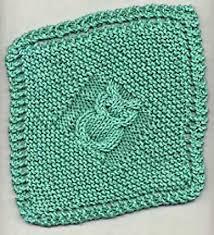 knitting patterns galore diagonal owl dishcloth