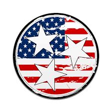Tennesse Flag American Flag Tennessee Tri Star 4 Inch Decal Tn Home Car Sticker