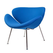 Mid Century Modern Fabric Reproductions Mid Century Modern Reproduction Slice Chair Blue