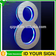 Lighted House Number Sign Light Up Numbers Light Up Numbers Suppliers And Manufacturers At