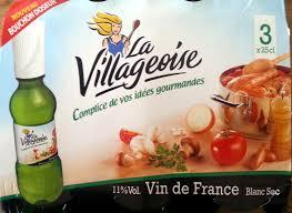 cuisine vin de vin de blanc sec la villageoise 3x25 cl