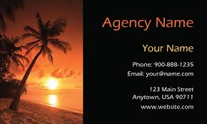 tree sunset tourism and travel agency business card design 901111