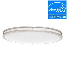 Low Profile Led Ceiling Light Envirolite 32 In Brushed Nickel White Low Profile Led Ceiling
