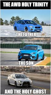 Trinity Meme - the holy trinity of awd cars ctoem