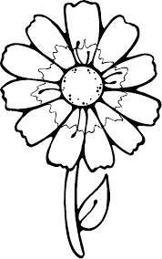 printable flowers color flowers coloring pages kids