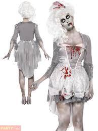 Halloween Costumes Bride Groom Mens Ladies Zombie Bride Groom Costume Georgian Lady Gent