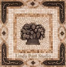 tile medallions for kitchen backsplash backsplash mosaic tile medallion with metal accents nisartmacka com
