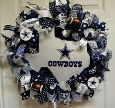 Dallas Cowboy Christmas Decorations Outdoor by Dallas Cowboys Wreath Cowboys Wreath By Texascaseyscreations