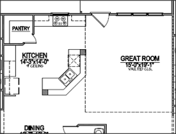 l shaped kitchen floor plans with dimensions corner pantry