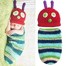Baby Boy Photo Props Amazon Com Zmg Newborn Baby Boy Beanie Crochet Very Hungry