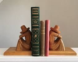 monogram bookends wood bookend etsy