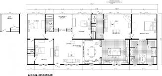 4 bedroom floor plan b 6594 hawks homes manufactured