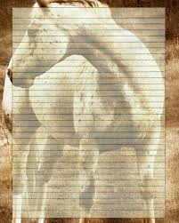 writing stationery paper printable horse journal page animal stationery horse lined zoom