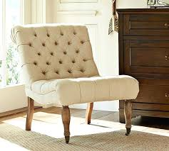 pottery barn look slipper chair with arms decor look pottery barn tufted slipper chair