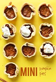 thanksgiving easy meals vegan mini pumpkin pies minimalist baker recipes