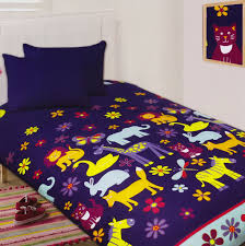 Girls Zebra Bedding by Animal Silhouette Glow In The Dark Quilt Cover Set From Kids
