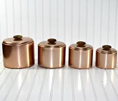 copper kitchen canister sets 42 best canisters images on kitchen storage